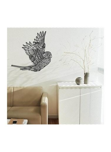 Baupor Tropikal Papağan Metal Duvar Dekoru Siyah